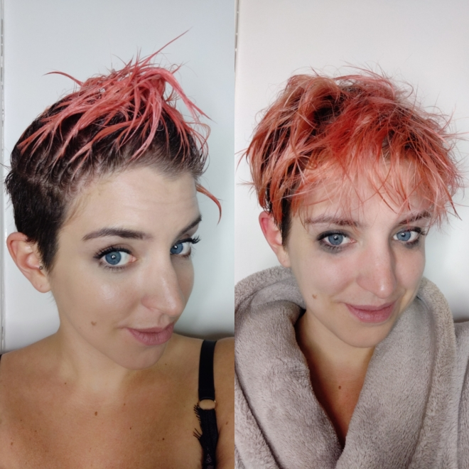 Style: L'Oreal Colorista Washout review - during hair dye
